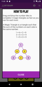 How to play Magic Triangles